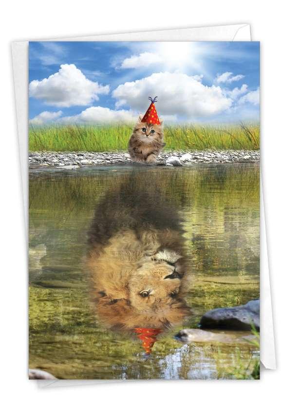 Aspirations - Kitten: Artful Birthday Printed Greeting Card