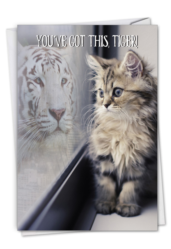 Aspirations - Cat: Stylish Friendship Card