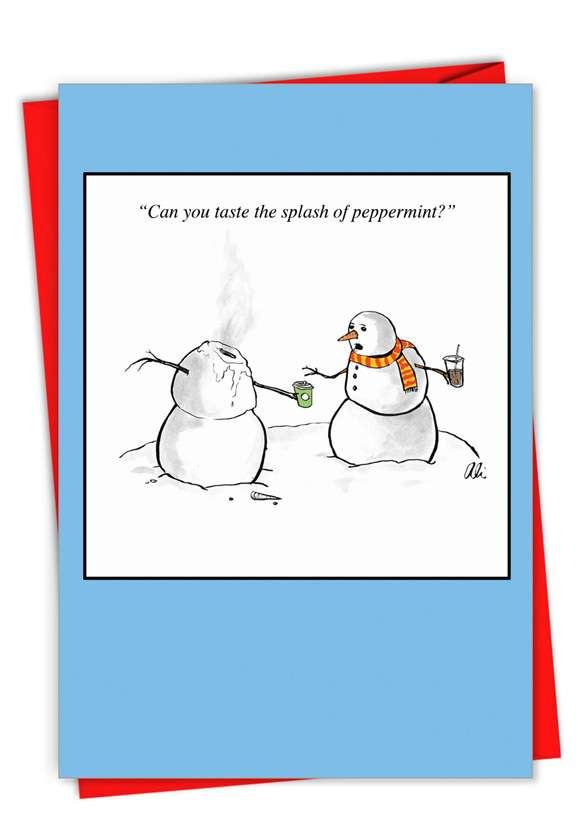 Splash of Peppermint Card