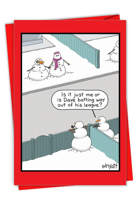 Snowman League: Hysterical Merry Christmas Printed Card