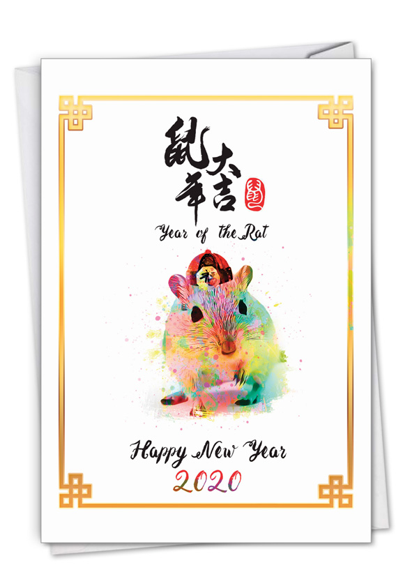 Year of the Rat 2020-21: Creative Chinese New Year Greeting Card