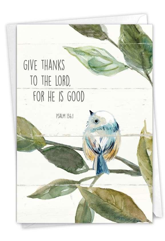 Scripture Birds: Beautiful Sympathy Thank You Printed Card