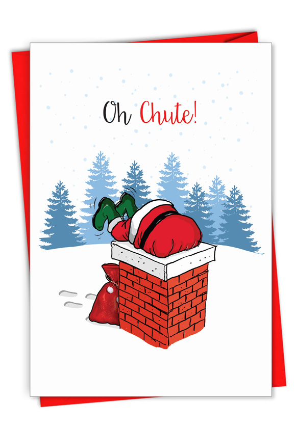 Punny Holidays - Chute: Creative Merry Christmas Greeting Card