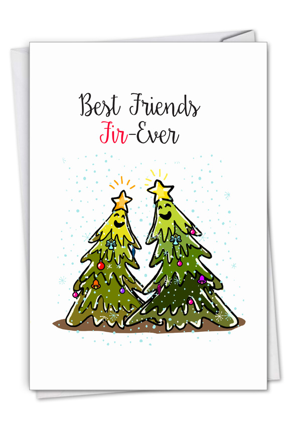 Punny Holidays - Forever: Stylish Merry Christmas Card