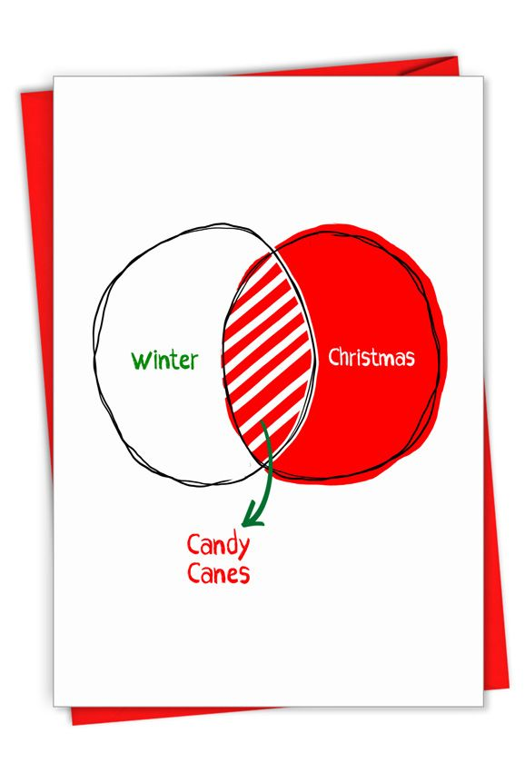 Candy Canes: Hilarious Merry Christmas Printed Card