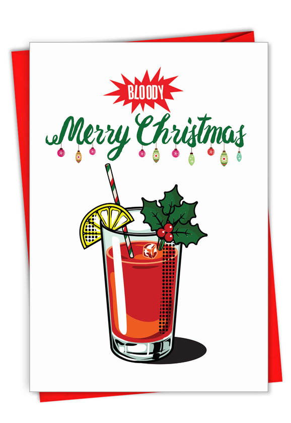 Bloody Merry: Creative Merry Christmas Printed Greeting Card