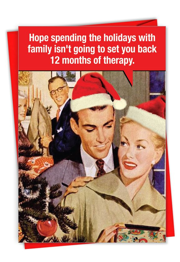 12 Months of Therapy: Hilarious Merry Christmas Greeting Card