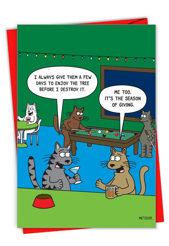 Season of Giving: Hysterical Merry Christmas Printed Card