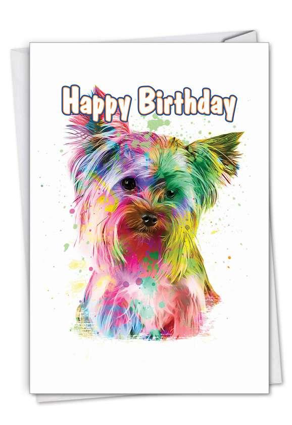 Funky Rainbow Dogs - Terrier Card