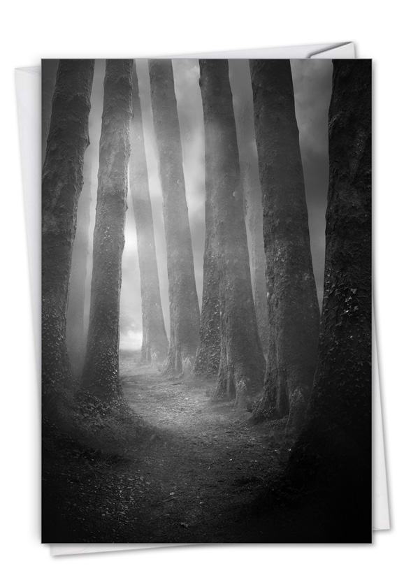 Misty Woods: Creative Sympathy Printed Greeting Card
