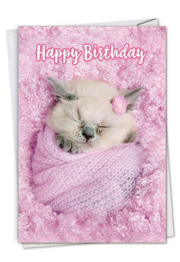 Fluffy Furballs: Creative Birthday Greeting Card