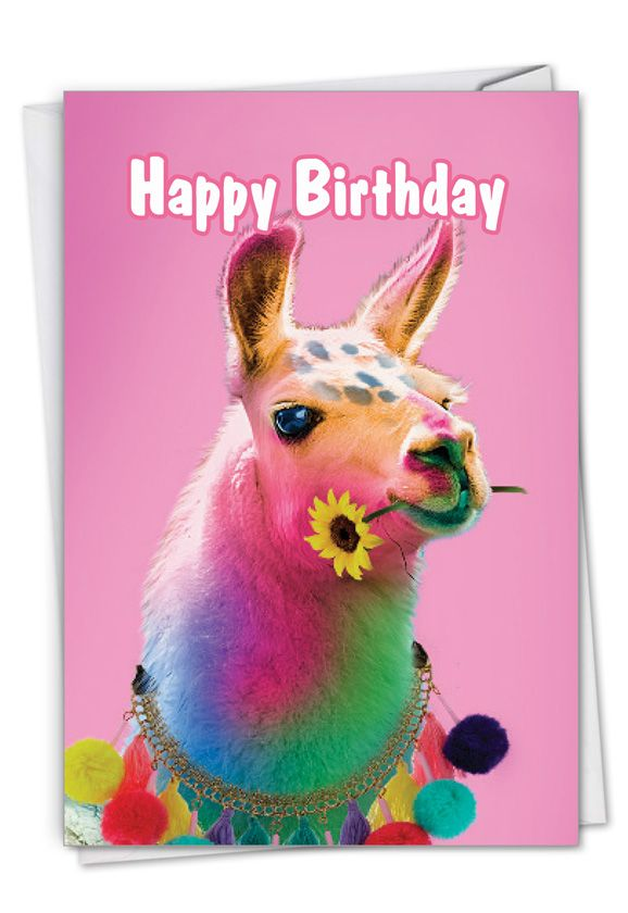 Colorful Creatures: Stylish Birthday Paper Card