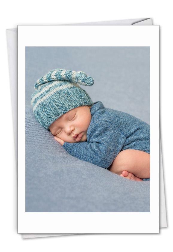 Blissful Babies - Boy: Creative Baby Printed Greeting Card