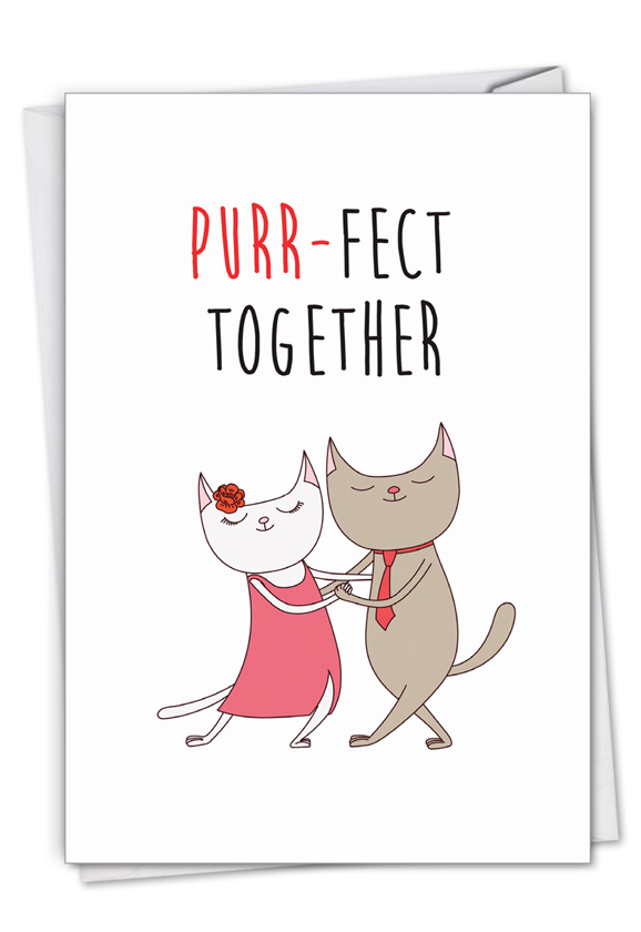 Cat Got Your Tongue - Purr-Fect Together: Creative Anniversary Greeting Card