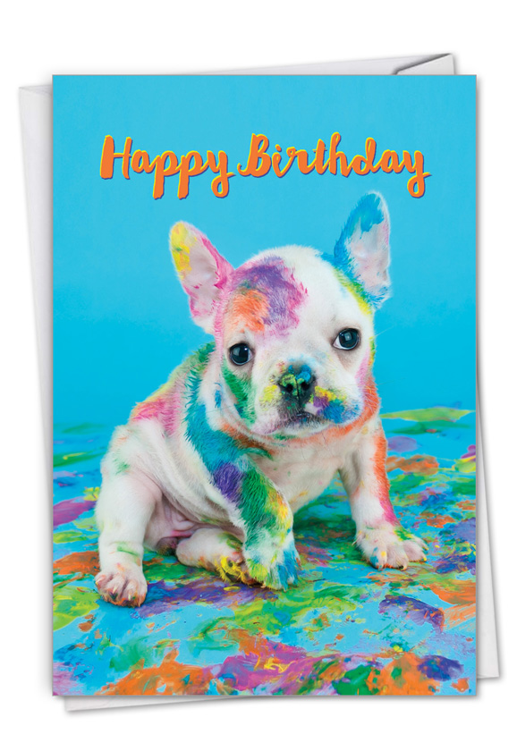 Dirty Dogs - Puppy: Stylish Birthday Card