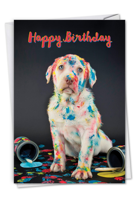 Dirty Dogs - Accident: Creative Birthday Greeting Card