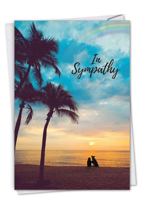 Sympathy Rainbow Dog: Stylish Pet Sympathy Paper Greeting Card