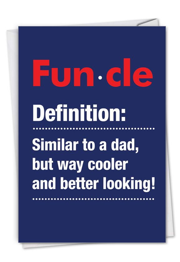 Funcle: Hilarious Birthday Printed Card