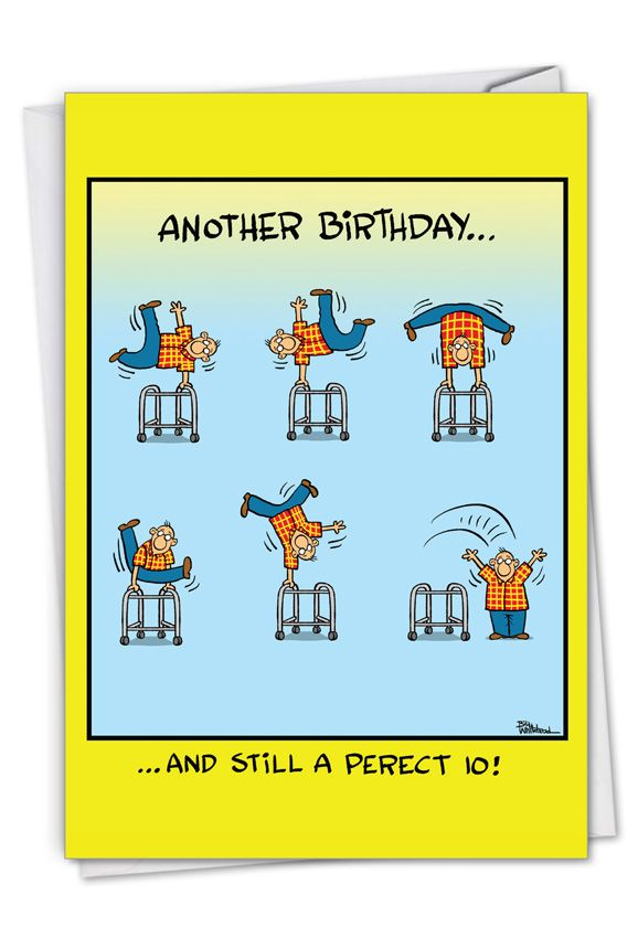 Perfect 10: Hysterical Birthday Greeting Card