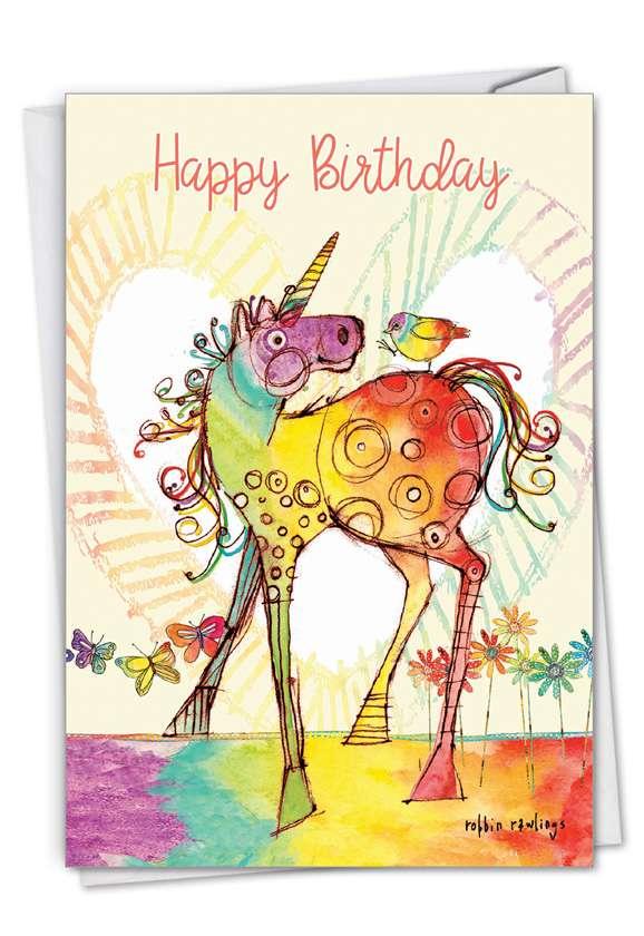 Happy Unicorns: Creative Birthday Printed Card