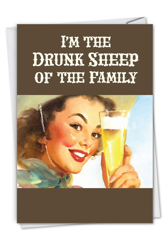 Drunk Sheep: Hysterical Birthday Printed Card