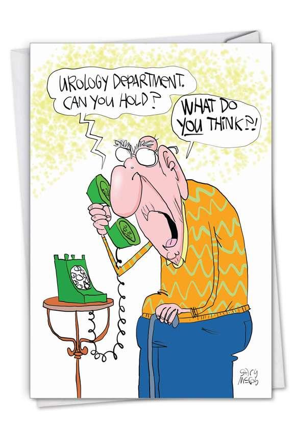 Urology Department: Hilarious Birthday Printed Greeting Card