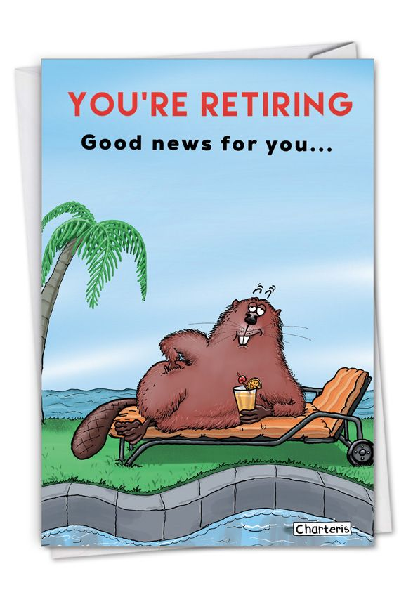 Dam Shame: Humorous Retirement Paper Greeting Card