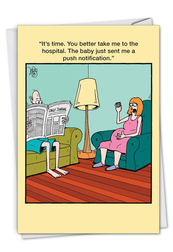 Push Notification: Hysterical Baby Printed Card