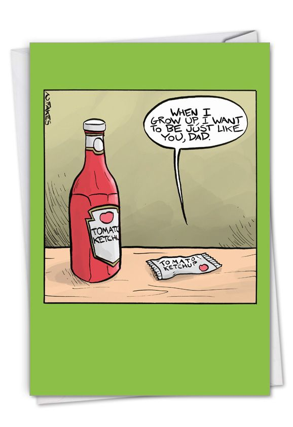 Ketchup Dad: Humorous Birthday Father Paper Greeting Card
