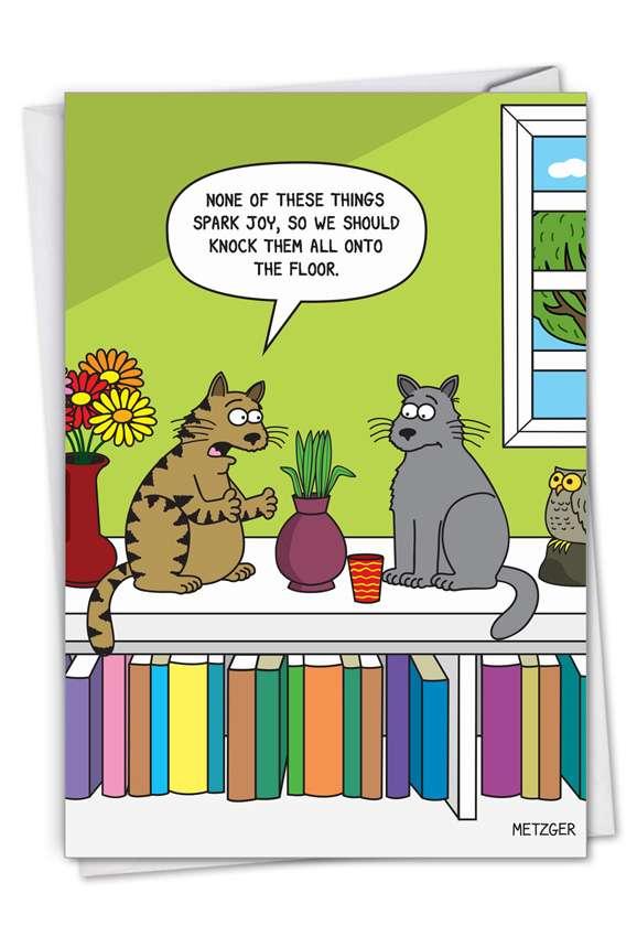 Cat Spark Joy Card