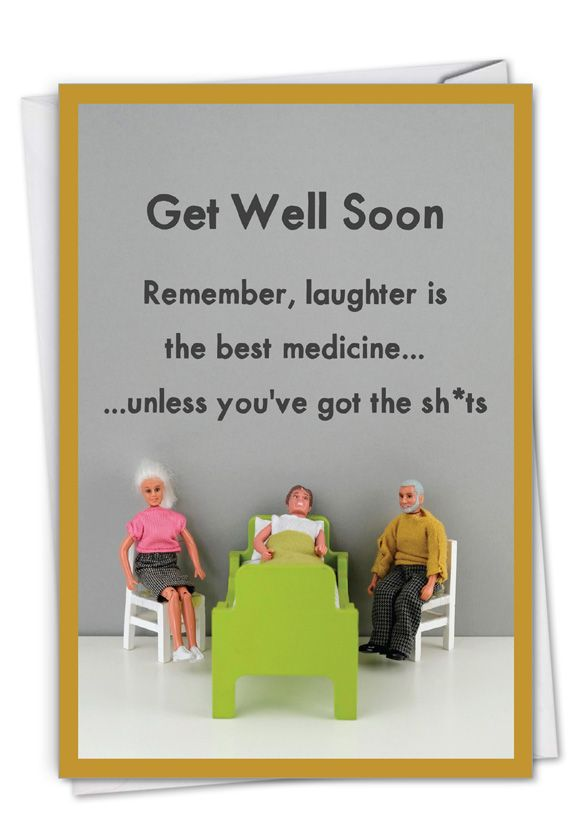 Best Medicine: Humorous Get Well Paper Greeting Card