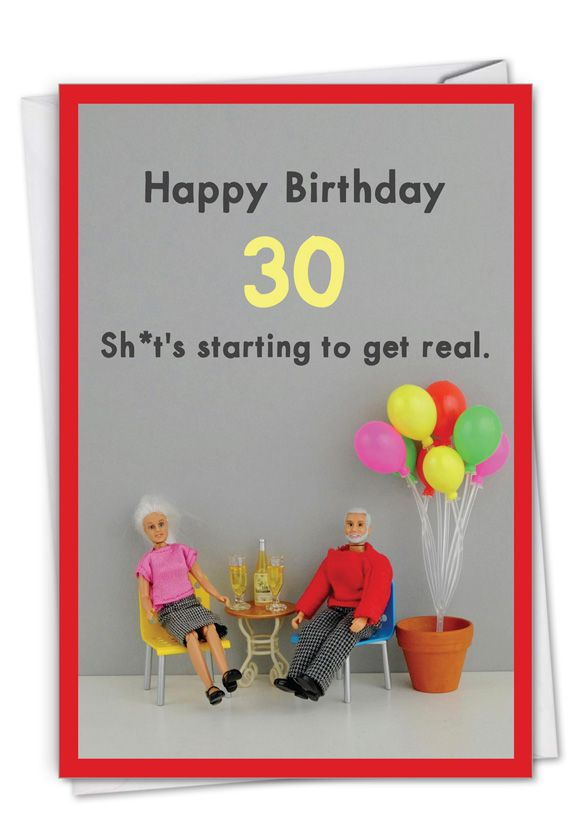 Get Real 30 Card