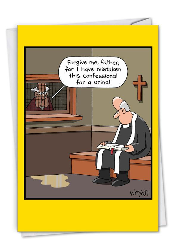 Urinal Confession: Humorous Birthday Card