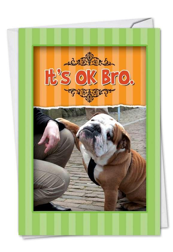 It's OK Bro: Hilarious Birthday Paper Greeting Card