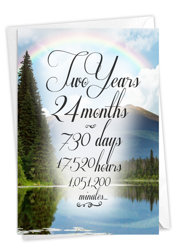 2 Year Time Count: Stylish Recovery Paper Greeting Card