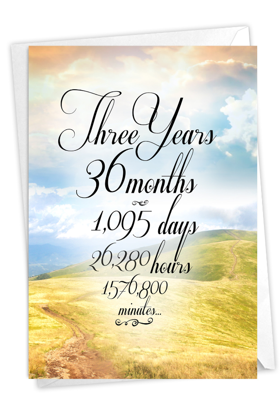 3 Year Time Count: Creative Recovery Printed Greeting Card