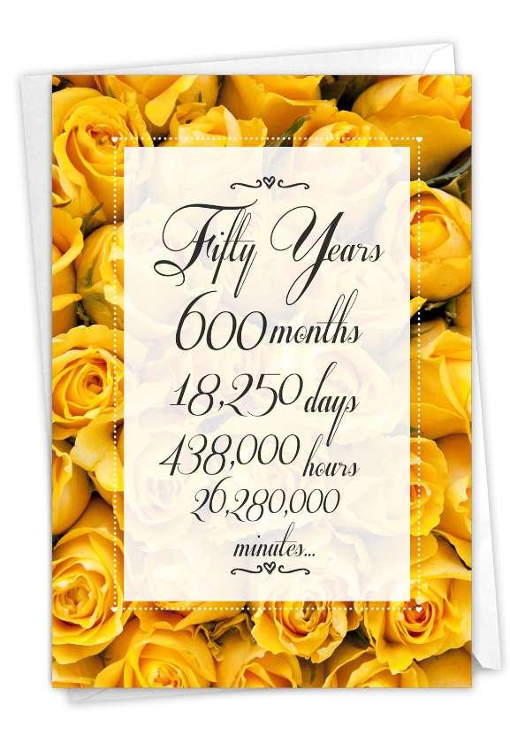 50 Year Time Count: Humorous Milestone Anniversary Card