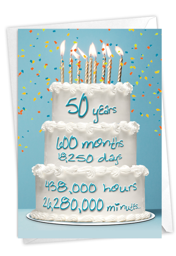 50 Year Time Count: Stylish Milestone Birthday Card