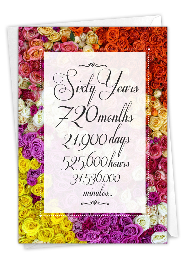 60 Year Time Count: Hysterical Milestone Anniversary Greeting Card