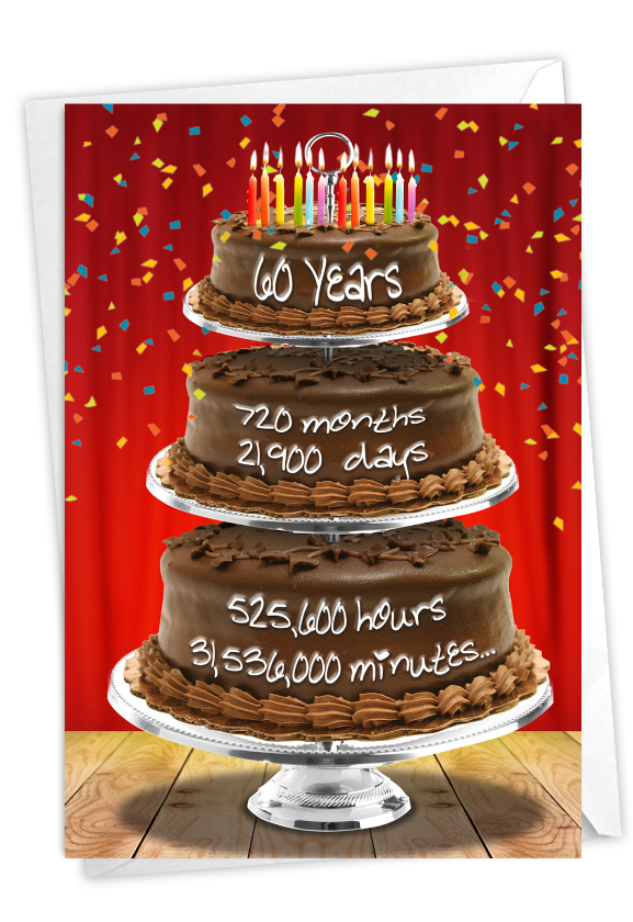 60 Year Time Count: Creative Milestone Birthday Greeting Card
