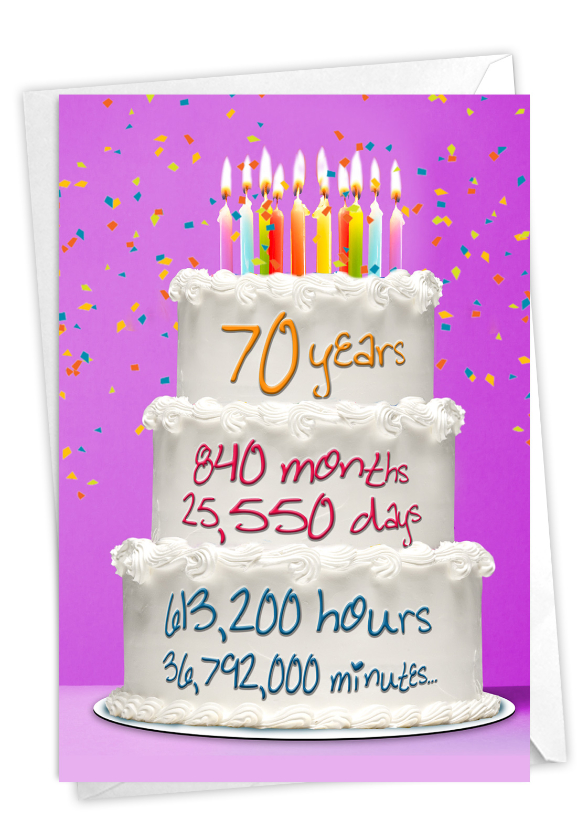 70 Year Time Count: Stylish Milestone Birthday Paper Card