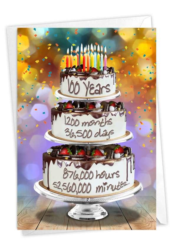 100 Year Time Count: Creative Milestone Birthday Printed Greeting Card