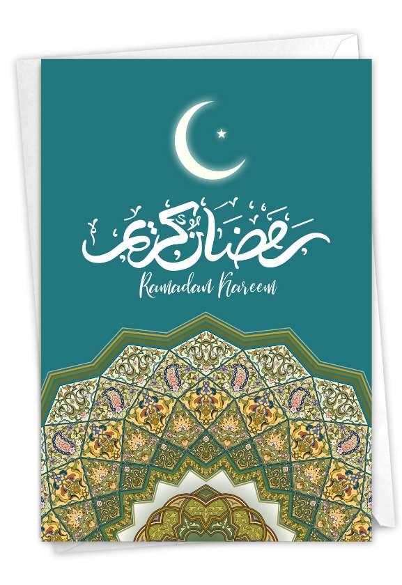Ramadan Kareem: Artistic Ramadan Paper Greeting Card