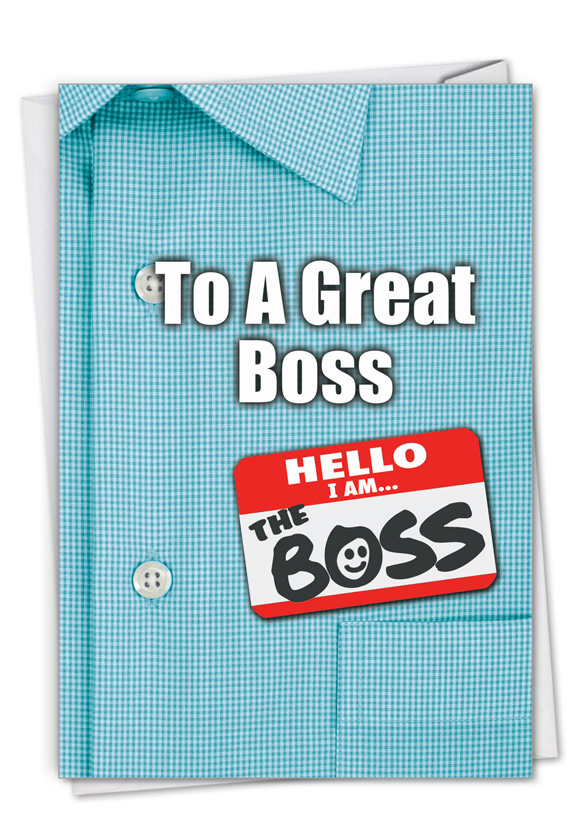 Thank You to a Great Boss: Creative Boss's Day Printed Greeting Card