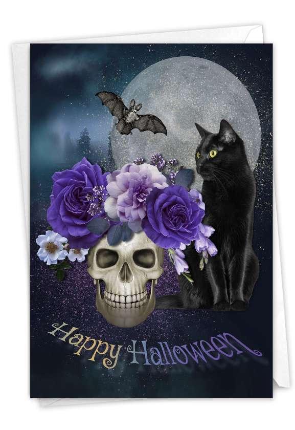 Ghoulish Greetings: Artful Halloween Greeting Card