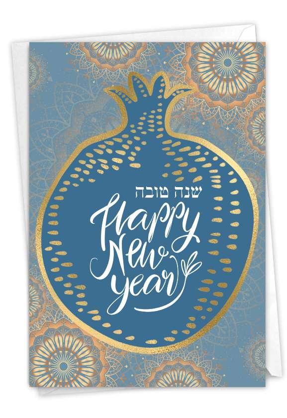 L'shana Tova: Beautiful Rosh Hashanah Paper Card