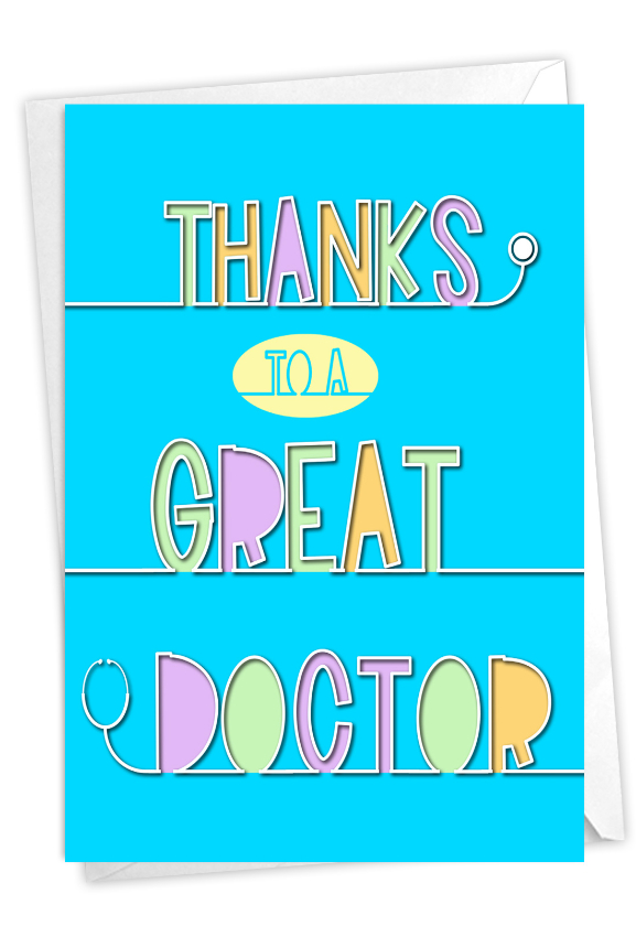 Doctor Gratitude: Creative Thank You Printed Card