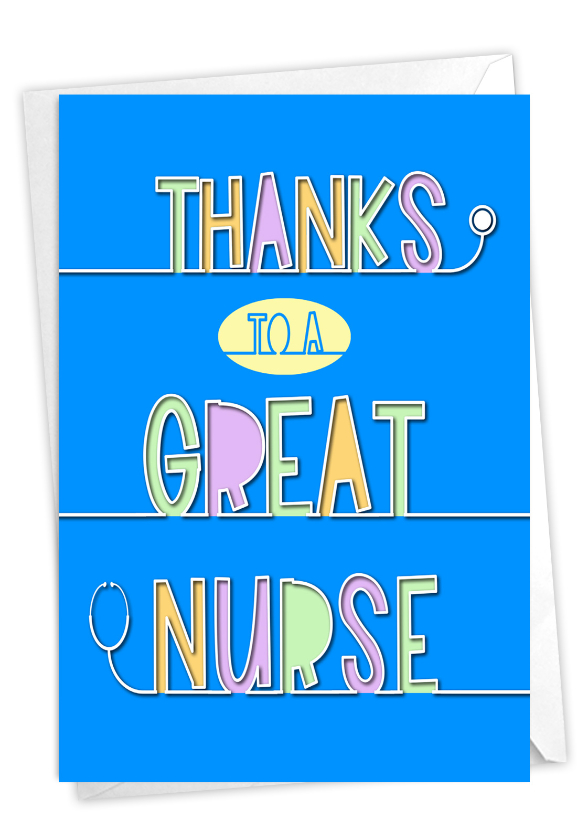Nurse Gratitude: Stylish Thank You Paper Greeting Card