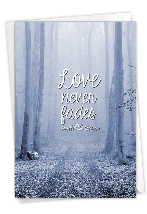 Misty Moments - Forest: Artistic Sympathy Thank You Printed Card