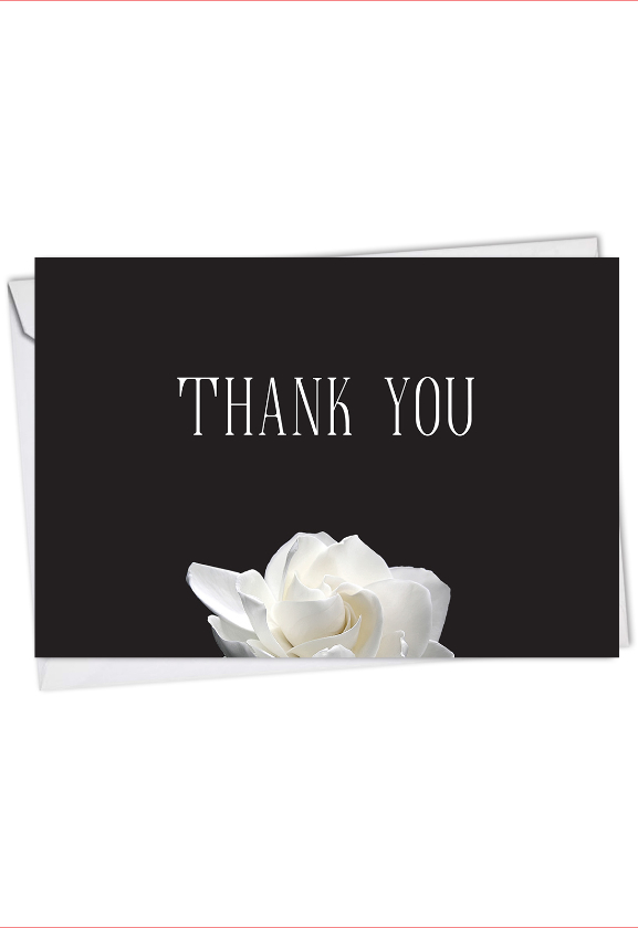 Floral Support - Gratitude: Artful Sympathy Thank You Card